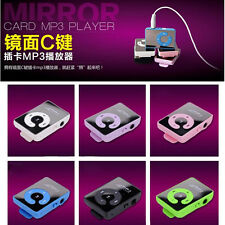7 Colors Fashion  Mirror Clip USB Digital Mp3 Music Player PU To 16GB SD TF Card