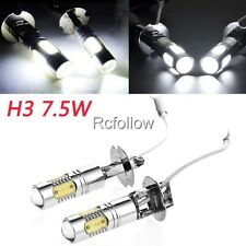 New H3 7.5W White LED Bulb Auto Running Car Driving Fog Light Lamp Bulb 12V