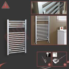 "500mm(w) x 800mm(h) ""Atlas"" Electric Chrome Designer Towel Rail Radiator 150W"