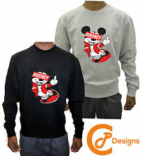 Mickey Disobey UNISEX Obey Mouse Swag Hands Drake Sweatshirt Jumper Sweater Dope