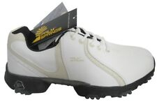 Palm Springs Golf Shoes Ladies White/Tan 1 Year Waterproof Guarantee NEW