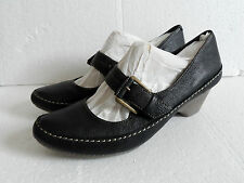 New Clarks Ladies Granola Syrup Black leather sandal Shoes Size UK 6 D