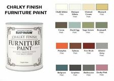 750ml Rustoleum Chalky Furniture Matt Paint - 16 Shades for Wood Brick & Stone