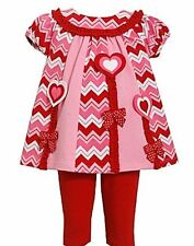 Bonnie Jean Heart Valentines Day Outfit Sizes 12 18 24 Months Baby Girls