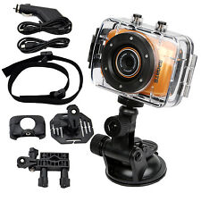 Camera Sport Action 720p HD Video Touchscreen Suction Mount Waterproof Bundle