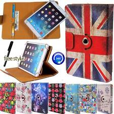 """Universal 360° Rotating Stand Wallet Leather Case Cover Fit Various Tablets 7"""""""