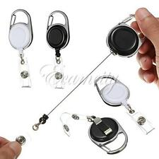 Retractable Recoil ID Badge Lanyard Name Tag Card Holder Reel Belt Clip Button