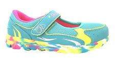 Girl's Skechers Go Walk Daydreamin Blue/multi Leather Velcro Mary Janes New