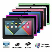 "7"" Quad Core Google Android 4.4.2 KitKat 8GB HD Tablet PC Dual Camera A33 1.5GHz"