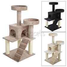 "Vidapets 51"" Almond Black Beige Cat Tree Condo Furniture Scratch Post Play House"