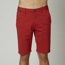 Fox Racing Mens Casual Shorts Selecter Chino Tibetan Red 09015