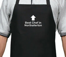 PERSONALISED BEST CHEF IN NORTHALLERTON APRON XMAS BIRTHDAY GIFT