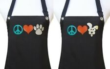 PEACE HEART PAW grooming apron dog pet salon groomer polyurethane waterproof