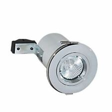 10 x Robus Fire Rated 12V Downlight Fixed Light MR16 50W IP20 White or Chrome