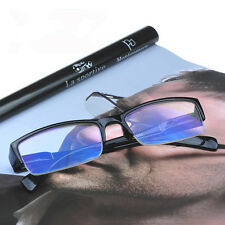 New Fashion High quality Men's Women's Half-frame blue film Reading glasses
