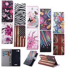 DEFFER - Cute Butterfly Flower Leather Wallet Flip Stand Pouch Hard Case Cover