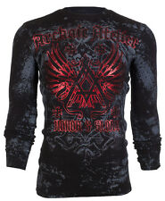 Archaic AFFLICTION Men THERMAL T-Shirt ACHILLES Cross Tattoo Biker UFC M-3XL $58