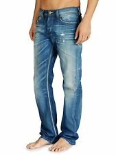 NEW DIESEL LARKEE 'BLUE EYECONS' 882D RELAXED STRAIGHT LEG JEANS NWT $348 ITALY