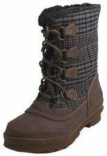 Nine West Gofish Womens Plaid Winter Mid-Calf Lace Up Boots