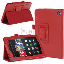 PU Leather Smart Folio Stand Case Cover For Amazon Kindle Fire HD 7 2014 Tablet