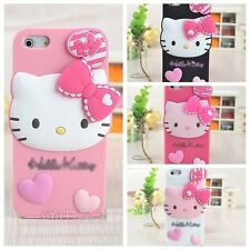 3D Cute HK Cartoon Silicon GEL Back Case Cover Skin For iPhone 5 5s