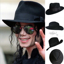 MJ Michael Jackson Billie Jean With Name Black FEDORA Wool Hat Trilby Collection