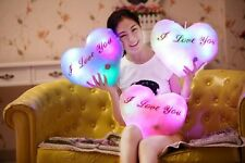 Valentine's day gifts- Huggable LED  Up Glow Love Pillow - Auto Color Rotation