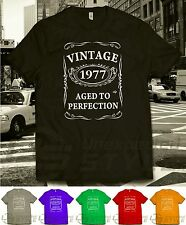 VINTAGE 1975 AGED TO PERFECTION T-shirt 40th BIRTHDAY Present Gift 40 years old