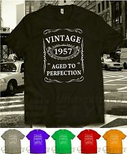 VINTAGE 1955 AGED TO PERFECTION T-shirt 60th BIRTHDAY Present Gift 60 years old