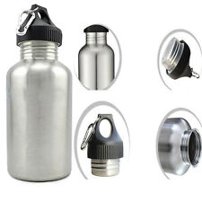 350/750/1000/2000 ml Cycling Sports Stainless Steel Water Drink Bottle CARABINER