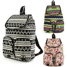 Crazy cheap Vintage Canvas Floral School Satchel Rucksack Backpack Campus