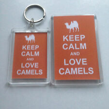 KEEP CALM AND LOVE CAMELS Keyring or Fridge Magnet  = ideal gift idea