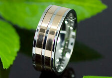 Two Tone Stainless Steel Spin Men Ring MR112