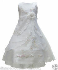 NEW Girls White Holy Communion/Bridesmaid/Wedding/Party/Princess/Prom Gown Dress
