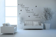 2015 Hot Chic Live Love Laugh Wall Art Sticker Removable Vinyl Home Decoration