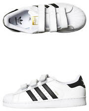 New Adidas Originals Boys Kids Superstar Foundation Shoe Leather Shoes White