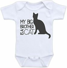 My Big Brother is a Cat Cute Baby Onesie Funny Onsie Cool Unique Shower Gift