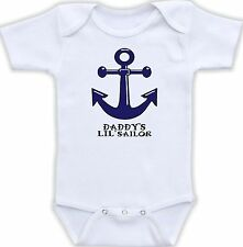 Daddy's Little Sailor Cute Baby Onesie Funny Onsie Clothing Cool Shower Gift