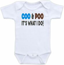 Coo and Poo It's What I Do Cute Baby Onesie Funny Onsie Clothing Shower Gift