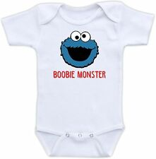 Boobie Monster Cute Baby Onesie Funny Onsie Shower Gift Sesame Street Cookie