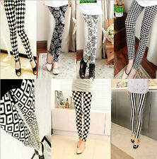 Hot Fashion Womens Wild Casual Bottoming Printing multi-pattern Leggings Pants