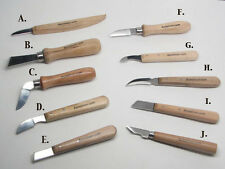 Wood Carving Detail Chip Knives Signature Series Individual Profiles UJ Ramelson