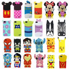 Hot 3D Cartoon Superhero Soft Silicone Rubber Case Cover For Apple & Samsung M8