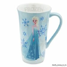 NEW Disney Store Exclusive FROZEN Movie Elsa OR Anna Tall Ceramic Coffee Mug Cup