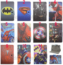 Folio Cute Cartoon Super Hero Series Leather Stand Case Cover For Asus Tablet PC