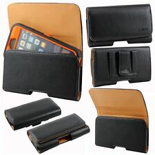 Leather Carrying Holster Belt Clip Pouch Fits Otterbox Defender iPhone 6 5S 5C 5