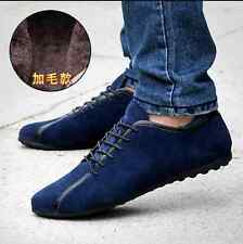 Fashion Suede Lace Up Slip On Loafers Men Moccasin-gommino Driving Shoes Sneaker