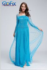 Beautiful Adult Princess Dress Costume Cosplay For Frozen Queen Elsa & Anna