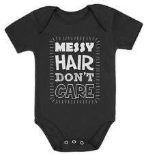 Messy Hair Don't Care Baby Bodysuit Cute Funny Baby Shower Gift Idea Curly Hair