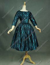 Retro Mod Maiden Jacquard Brocade Prom Dress Gown Theatre Quality 357